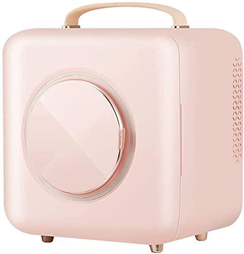 X&Z-XAOY Mininevera Cosmética 9 L Armario De Refrigeración De Belleza para Nevera Profesional Maquillaje Cuidado De La Piel Belleza Refrigerador Regalo para Mujeres, Niñas (Color : Pink)