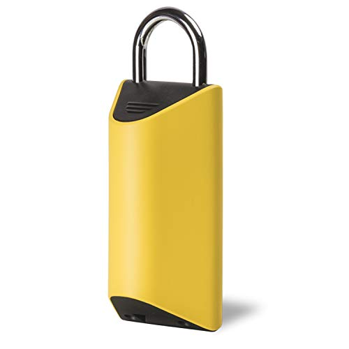 BoxLock BoxLock001-1 Delivery Lock-Protect Packages from UPS, USPS, FedEx, and More, Yellow