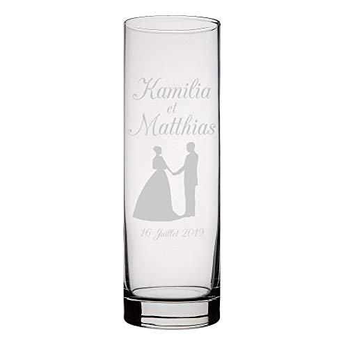 CADEAUX.COM Vase Personnalisable - Mariage - Cadeau de...