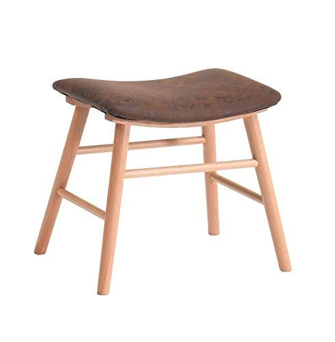 IAIZI Hocker Massivholz-Dressing Hocker Hocker Makeup Wohnzimmer Kamin Wechselschuh Bank Hocker aus Holz (Size : Wood Color)