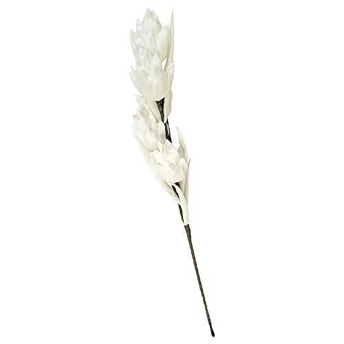 CASABLANCA Foam Flower Raspa ° Blanc/Gris ° Décoration ° vase 5 fleurs ° Fleurs Artificielles ° 110 cm