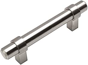 10 Pack - Cosmas 161-3SN Satin Nickel Contemporary Bar Cabinet Handle Pull - 3
