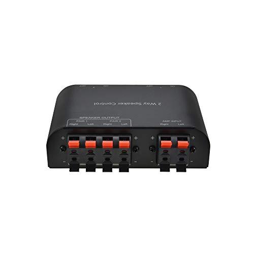 SWEE 1入力→2出力 スピーカースイッチャー セレクタボックス スピーカーセレクター 端子クラップ付き 9ゲージ(直径2.906mm2)以下のケーブルを対応 4/8/16Ωスピーカを互換 アンプ最大150Wパワーをサポート