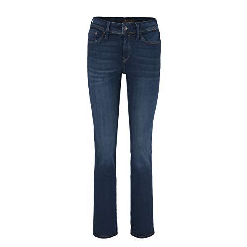 Mavi, Mona, Damen Jeans Hose, Stretchdenim, Dark Aqua Gold lux Move Blue, W 32 L 30 [21927]