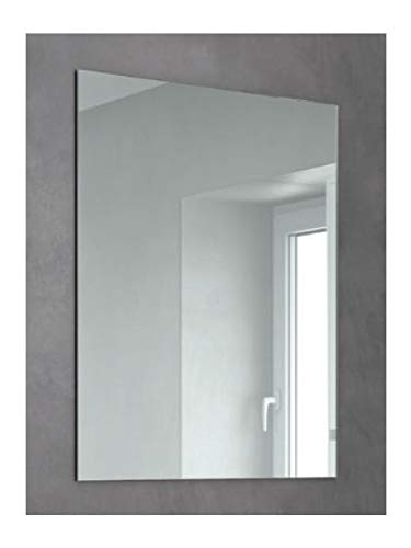 CustomGlass Espejo sin Marco de Pared para baño o recibidor (60 x 40 cm)