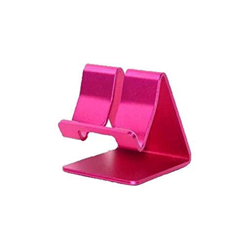 Universal Aluminium Alloy Stand Mobile Telephone Base Holder Stand for iPhone 6 5S 5 4S Galaxy S4 S5, iPad, iPod Touch 3 PR eBook Reader Tablet Stand - Rose Red