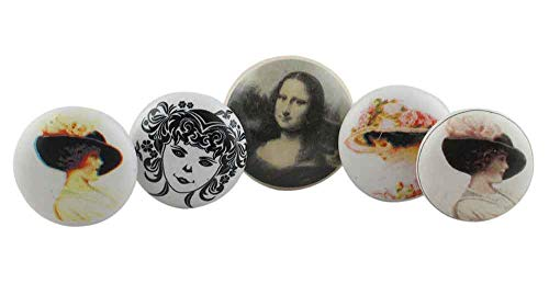 Review IndianShelf Assorted Customize Pack of 15 Handmade Mix Assorted Lady Design Ceramic Kids Comb...