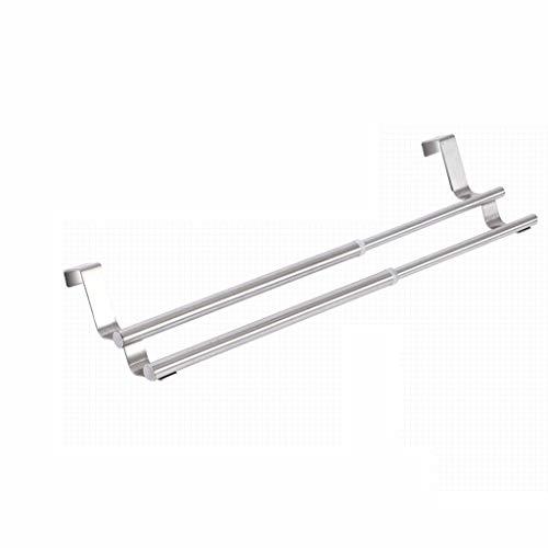 DY Porte Serviettes Porte-barre de cuisine réglable et extensible au-dessus du porte-serviette - À accrocher à l'intérieur ou à l'extérieur des portes, rangement for la main, vaisselle, torchons - lar