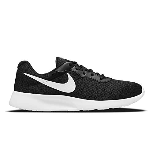 Nike Tanjun, Zapatos Hombre, Black/White-Barely Volt-Black, 40.5 EU