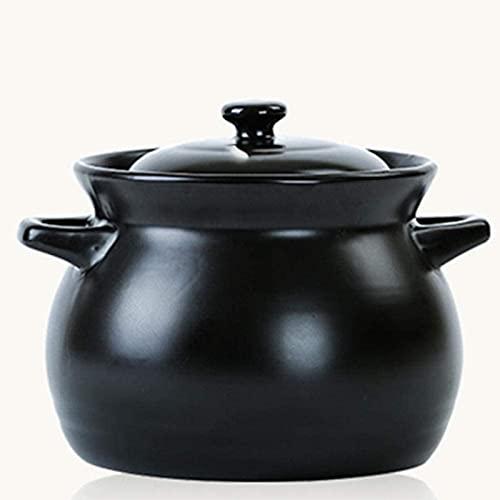 HYYDP Cacerolas Stef Pot 3.3L Terracotta Cocinar Potes Casserole Pot-Fast Heat Conducción, Pan no Stick, Duradero y fácil de Limpiar