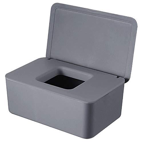 WELLXUNK® Feuchttücher-Box, Tissue Aufbewahrungskoffer, HomeTissue Boxen, Baby Feuchttücherbox, Serviettenbox Mit Deckel, Feuchttücher Spender, Toilettenpapier Box, Für Zuhause, Büro