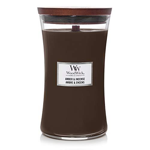 Woodwick Classic Large Amber & Incense 93041E, paraffina, MEDIUM