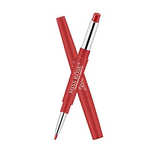 HLIYY Crayon à lèvres Double-End Lasting Lipliner Waterproof Lip Liner Stick Doublure multifonctionnelle Bicolore Bicolore Rouge à lèvres Brillant à lèvres