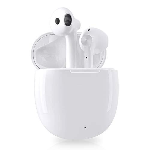 Auriculares Bluetooth, Auriculares inalambricos Bluetooth 350mah en la Oreja con Caja Carga Rapida, Control Táctil, IPX5 Impermeables, Reproducci 25 Horas Auriculares Bluetooth Deportivos (Blanc)