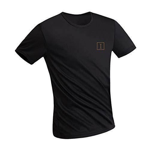 Irypulse Camiseta Hidrofóbica para Hombres y Mujeres, T Shirt Anti-incrustante Impermeable, Unisex T-Shirt Deportiva Casual Manga Corta, Secado Rápido, Absorción Humedad y Transpirable - Negro