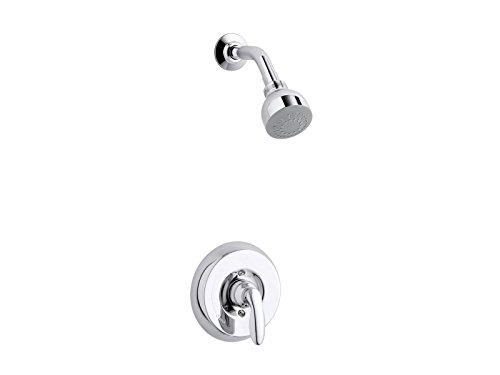 KOHLER TS15611-4-CP Coralais(R) Rite-Temp(R) shower valve trim with lever handle and 2.5 gpm showerhead