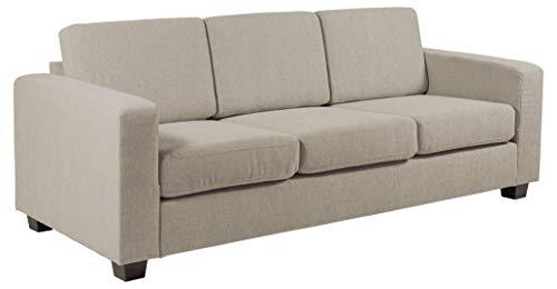 Amazon Brand - Movian Morat - Sofá de 3 plazas, 90 x 212 x 80 cm (largo x ancho x alto), beige arena