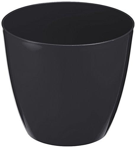 Plastkon Décoration Pot Decorative Flower Pot Ella Brillant Diamètre 21 cm, glitzern/Anthracite/Gris
