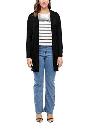 TRIANGLE Damen Shirtjacke mit Kapuze Black 50