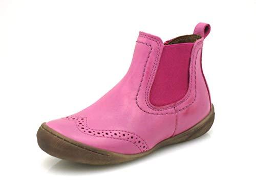 Unbekannt Ma-Ra Stiefelette Chelsea Boots Lederschuhe Fuchsia EU 33