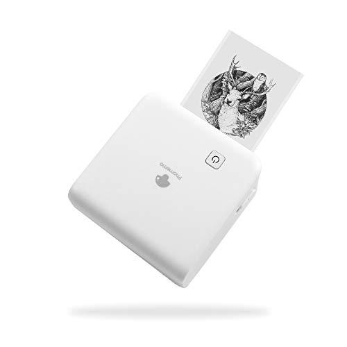 Phomemo M02 Pro 300dpi Mini Taschendrucker für iOS and Android Smartphone Bluetooth Sticker Drucker Handydrucker Thermodrucker Mobiler Drucker Etikettendrucker für Unterwegs