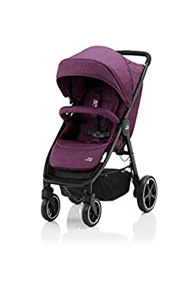 BRITAX RÖMER Carrito Bebe B-AGILE M, Compacto y Plegable con una Mano, Niños de 0 a 22 kg, desde el Nacimiento hasta los 4 Años, Rojo (Cherry Wine)
