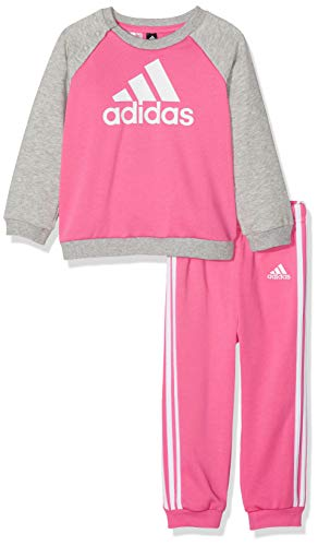 adidas Crew Jogger Chándal, Unisex Infantil, Multicolor (Semi Solar Pink/Medium Grey Heather), 9-12M