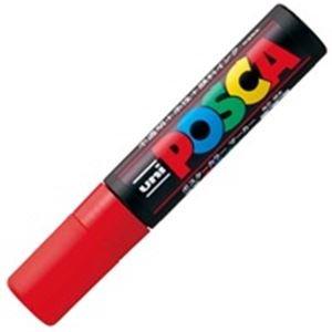 (業務用10セット)三菱鉛筆 ポスカ/POP用マーカー 【極太/赤】 水性インク PC-17K.15 ds-1460387