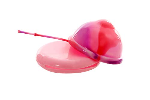 Lumma Unique - Flexible Menstruationstasse mit medizinischem Silikonfaden - Wiederverwendbare Tasse - Dicht - Sehr weich und komfortabel - Pink Love, M