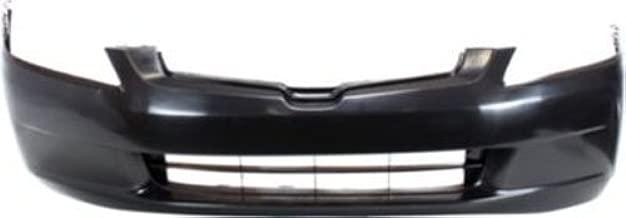 New Front Bumper Cover For Honda Accord BLACK 6CYL//SEDAN