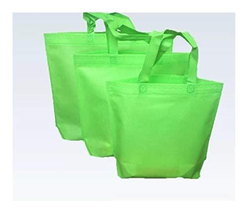 ZXC S/M/Große Bunte Süßigkeit-Farben-Non-Woven-Geschenk-Beutel-bewegliche Bekleidung Taschen Kleidersack Einkaufstasche mit Griff (Color : Green, Gift Bag Size : 35x45x10cm)