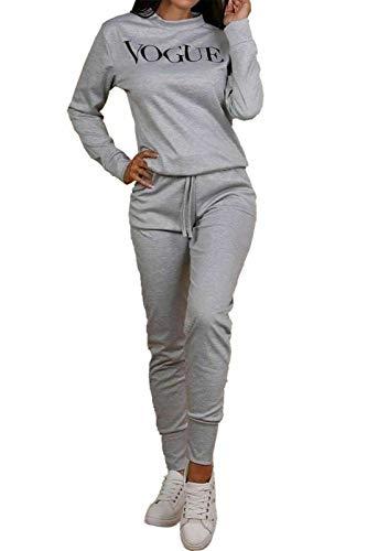 ZOONAG Conjunto de 2 piezas para mujer con estampado de Vogue, conjunto de chándal y camiseta para correr