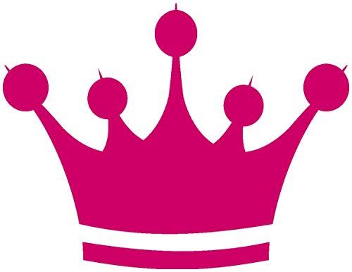 Samunshi® Aufkleber Krone Sticker Crown König in 6 Größen und 25 Farben (10x7,6cm pink)