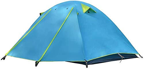 EAHKGmh Portable Tenda da Campeggio Alpinismo Impermeabile Pesca Esterna 3-4 Persona Doppia Alluminio palo della Tenda Anti-Tempesta Pioggia Tende da Campeggio (Color : A)