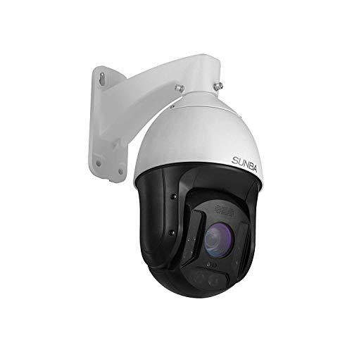 SUNBA 3MP IP PoE+ PTZ Kamera mit 25 fachem optischen Zoom, Outdoor, eingebautes Audio, Infrarot Nachtsichtgerät mit großer Reichweite bis zu 300m (601-D25X)