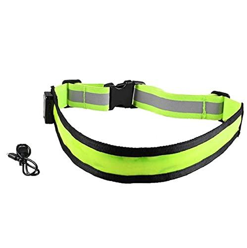 Liadance USB Recargable Led Reflectante de Alta Visibilidad cinturón de Engranaje de la Seguridad para Correr, Caminar y Ciclismo Adapta a Mujeres, Hombres y niños