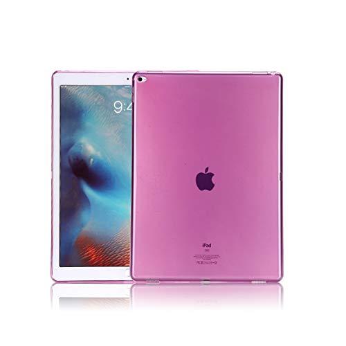 Copmob Smart Cover per iPad PRO 12.9 (2015/2017) - Custodia Morbido Flessibile Silicone TPU,Posteriore della Protezione di Gomma, Trasparente Retro Copertura per Apple iPad PRO 12.9 (2015/2017),Viola