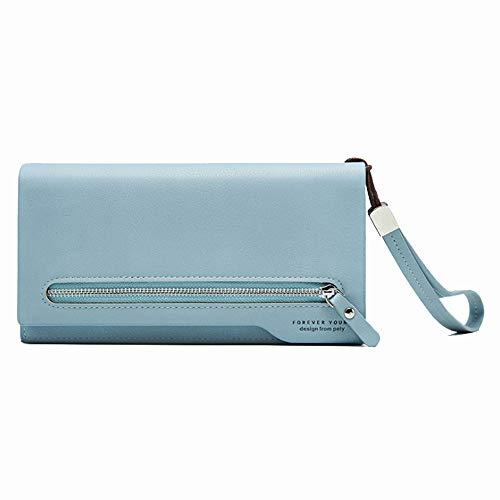 Ai-yixi Diseño Ligero y Elegante Nuevas señoras Color Cuadrado Gran Capacidad Cremallera Retro Embrague Pop Salvaje (Color : Blue, Size : 19.5 * 10.5 * 3cm)