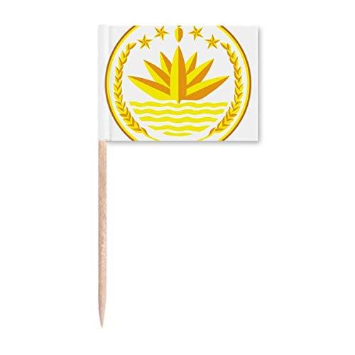 Dhaka Bangladesch National Emblem Zahnstocher Flaggen Marker Topper Party Dekoration