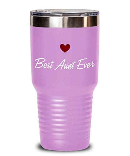 Best Aunt Ever Tumbler BAE Present for Auntie Travel Mug 20 or 30 oz Powder Coated Stainless Steel Insulated Birthday Coffee Cup for Women Her
