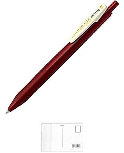 ゼブラ ゲルインクボールペン サラサクリップ 0.5mm レッドブラック JJ15-VRB 【まとめ買い10本セット】 + 画材屋ドットコム ポストカードA