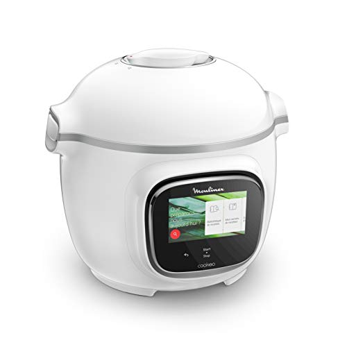 Moulinex Cookeo Touch Multicooker, 6 Litri, Bianco