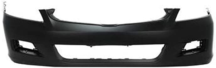 Front Bumper Cover Compatible with 2006-2007 Honda Accord Primed with Fog Light Holes