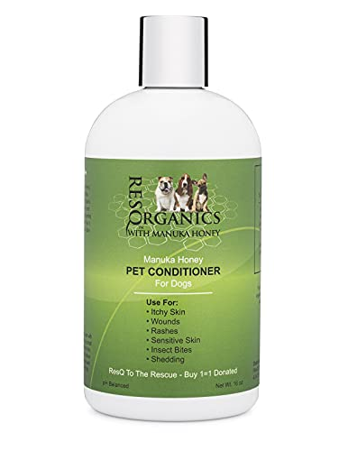 Hypoallergenic Dog Coat Conditioner- Detangles & Softens Fur, Calms...