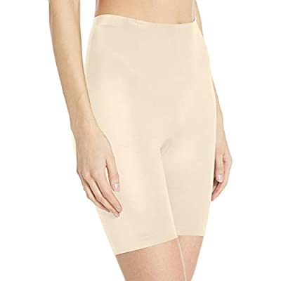 Flexees Women's Maidenform Cover Your Bases Smoothing Slip Short, transparent, LARGE