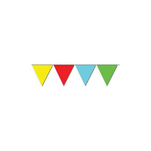 P'tit Clown 30200 Guirlande Plastique - 20 Flammes -20 X 30 cm - 10m - Multicolore