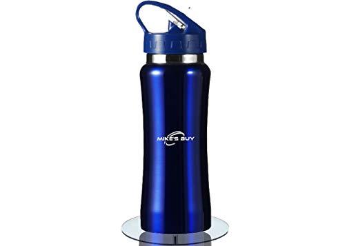 Mike's buy - Bouteille d'eau en Acier Inoxydable Isotherme sans BPA à Double paroi isolé, Gourde 600 ML réutilisable, étanche Nettoyage Facile avec Bec verseur