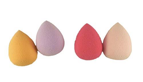 Lot de 2 paquets de poudre de maquillage pour fond de teint mélangeant éponge lisse (larme)