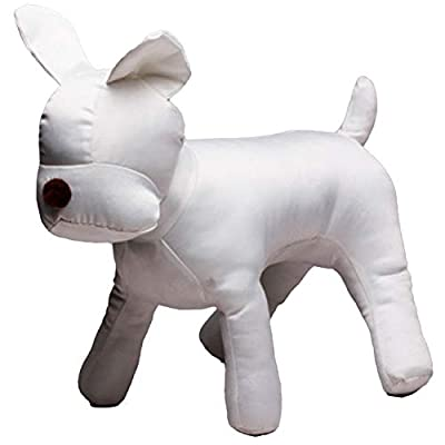 Basage Cotton Dog Model Dog Sets Dog Clothes Display Mannequin for Pet Store Pet Clothing Apparel Collar Decorations Show-White