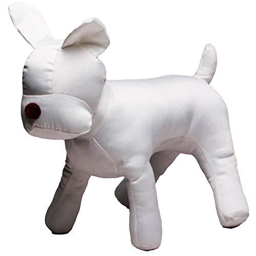 Heritan Perro de algodón modelo perro Sets perro ropa exhibición maniquí para tienda de mascotas ropa de mascotas collar decoraciones Show-White